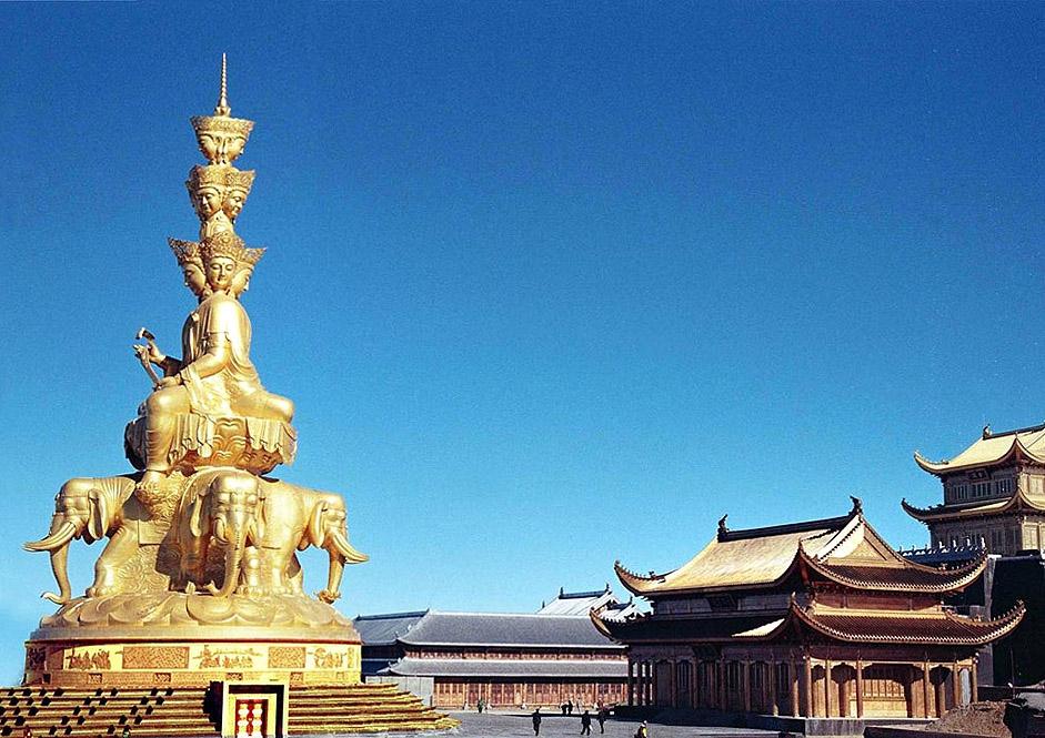 Sichuan Emei Mountain Jinding Hua Zang Temple Reform